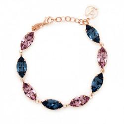 Pulsera marquesas denim blue de Celine en oro rosa