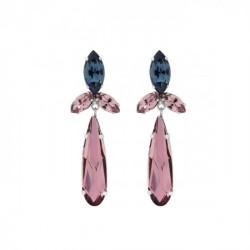 Pendientes lágrimas antique pink de Celine Shine en plata