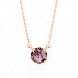 Collar cristales light amethyst de Celine en oro rosa