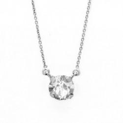 Collar cristales crystal de Celine en plata