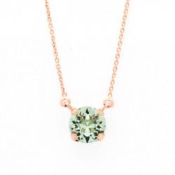 Collar cristales chrysolite de Celine en oro rosa