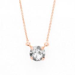 Collar cristales crystal de Celine en oro rosa
