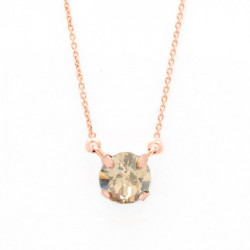 Collar cristales light silk de Celine en oro rosa