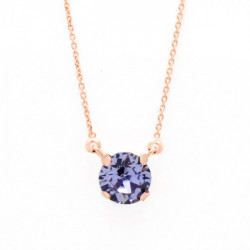 Collar cristales violet de Celine en plata