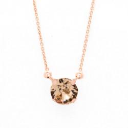 Collar cristales light peach de Celine en oro rosa