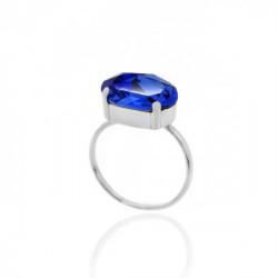 Celine oval sapphire ring in silver