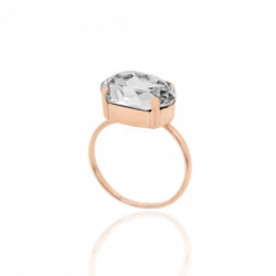 Pink Gold Ring Celine oval big