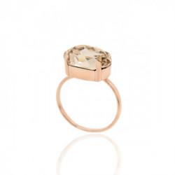 Anillo oval light silk de Celine en oro rosa