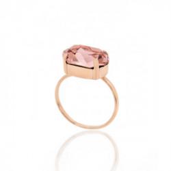 Anillo Celine oval grande oro rosa