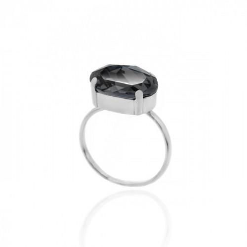 Silver Ring Celine oval big