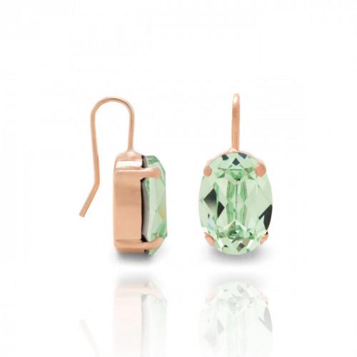 Pink Gold Earrings Celine oval M
