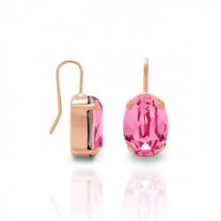 Pendientes oval rose de Celine en oro rosa