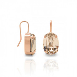 Pink Gold Earrings Celine oval M