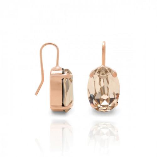 Pendientes Celine oval M oro rosa