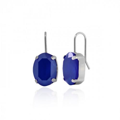 Silver Earrings Celine oval M