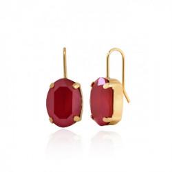 Pendientes oval royal red de Celine en oro
