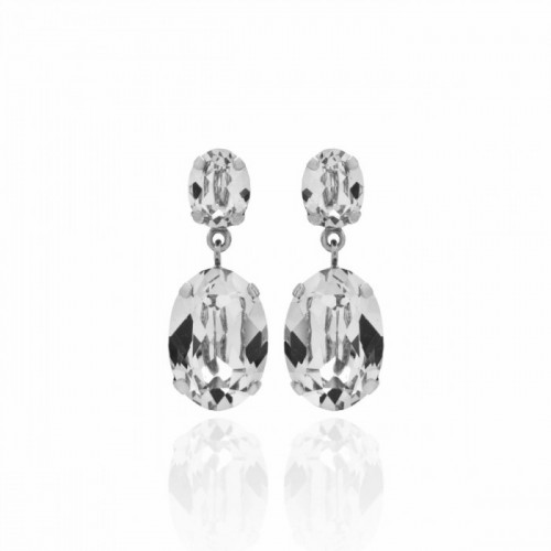 Silver Earrings Celine double
