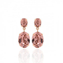 Pink Gold Earrings Celine double