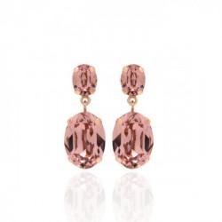 Pendientes oval rosa vintage de Celine en oro rosa