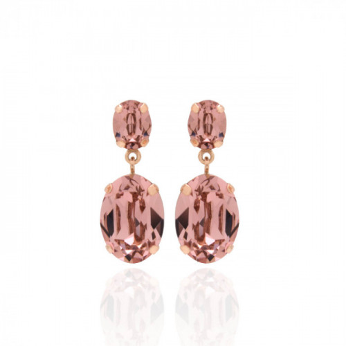Pendientes Celine doble oro rosa