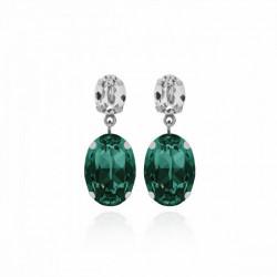 Pendientes oval emerald de Celine en plata