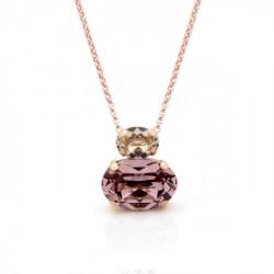 Collar oval antique pink de Celine en oro rosa