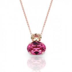 Collar oval rose de Celine en oro rosa