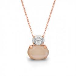 Collar Celine doble oval oro rosa