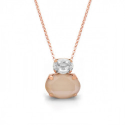 Pink Gold Necklace Celine double oval