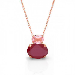 Collar oval royal red de Celine en oro rosa