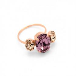 Anillo Celine triple oro rosa