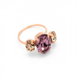 Anillo oval antique pink de Celine en oro rosa