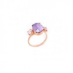 Rose Gold Ring Celine triple Lilac