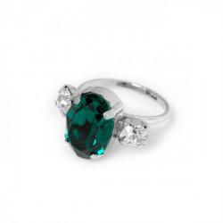 Anillo óvalos emerald de Celine en plata