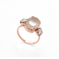 Pink Gold Ring Celine triple