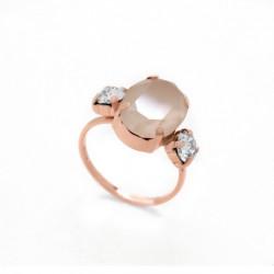 Pink Gold Ring Celine triple