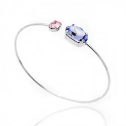Silver Cuff bracelet Celine oval