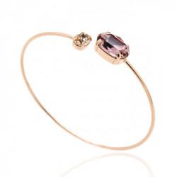 Pulsera caña oval anitque pink de Celine en oro rosa