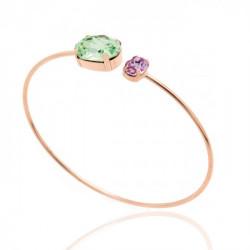 Pink Gold Cuff bracelet Celine oval