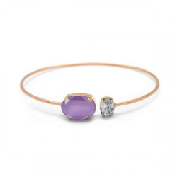 Rose Gold Miah Bangle Lilac