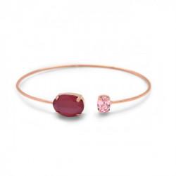 Pulsera caña oval royal red de Celine en oro rosa