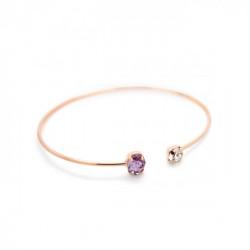 Pulsera caña oval violet de Celine en oro rosa