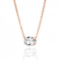 Collar oval crystal de Celine en oro rosa