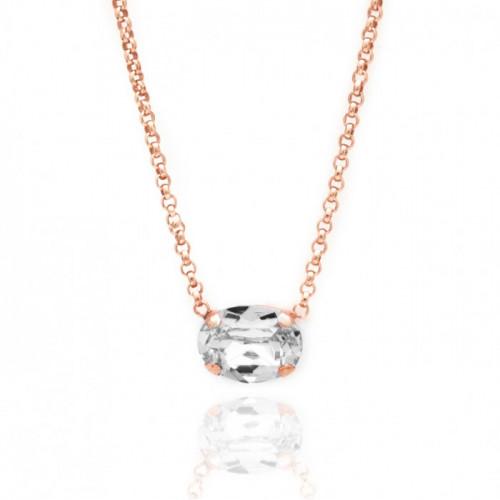 Collar Celine oval mini oro rosa