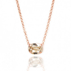 Pink Gold Necklace Celine oval mini