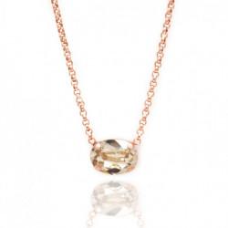 Collar oval light silk de Celine en oro rosa