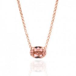 Collar oval rosa vintage de Celine en oro rosa