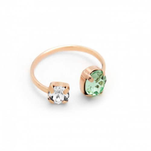 Pink Gold Ring Celine open