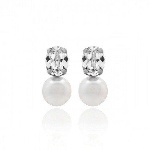 Silver Earrings Celine pearl