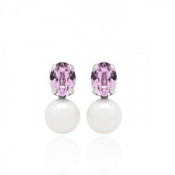 Pendientes Celine perla plata